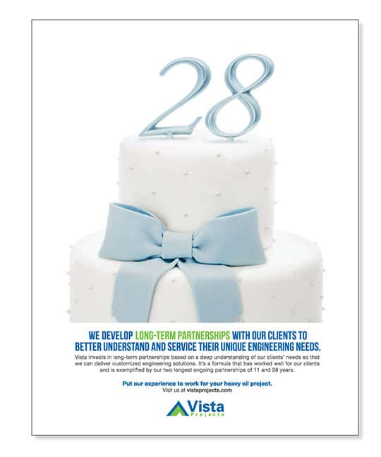 Vista Projects Print Advertising Anniversary Cake | Turkey Burg Creative