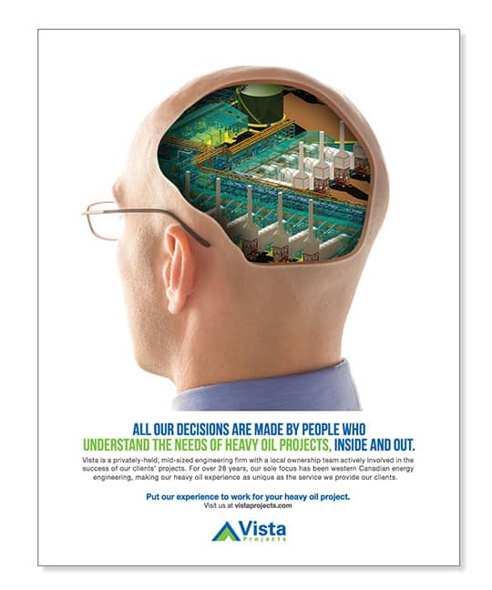 Vista Projects Print Advertising Inside Head | Turkey Burg Creative
