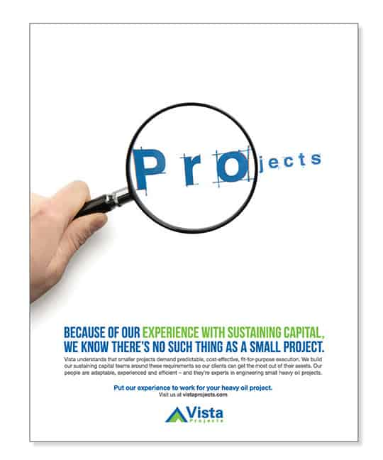 Vista Projects Print Advertising Magnifying Glass | Turkey Burg Creative