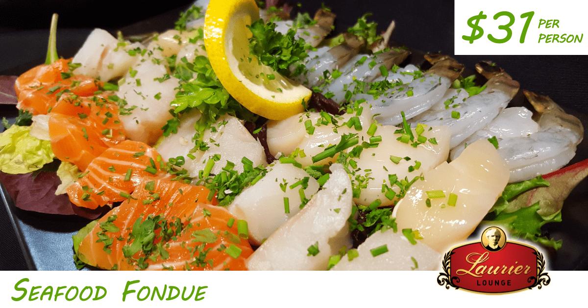 Laurier Lounge Seafood fondue