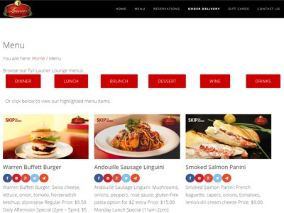 Laurier Lounge Website | Turkey Burg Creative